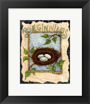 Framed Beginnings Print