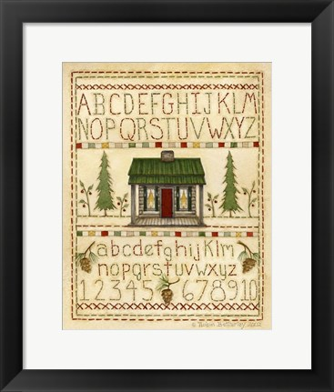 Framed Woodsy Sampler Print
