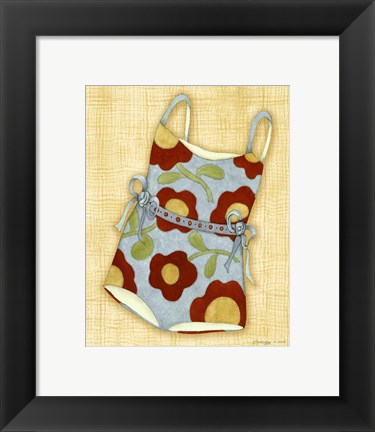 Framed Red Bathing Suit Print Print