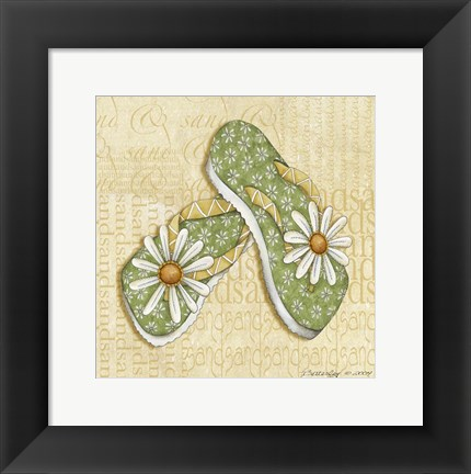 Framed Daisy Sandals Print