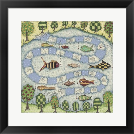 Framed Fish Game Print