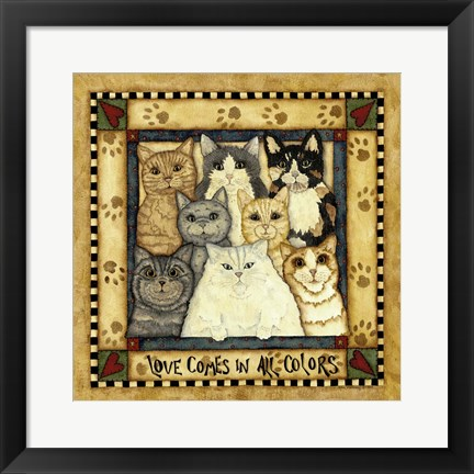 Framed Love Comes In All Colors Print