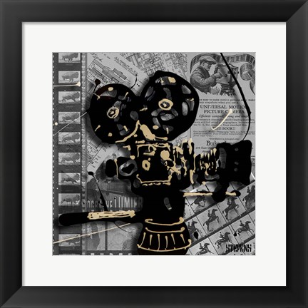 Framed Movie Camera 1 Print