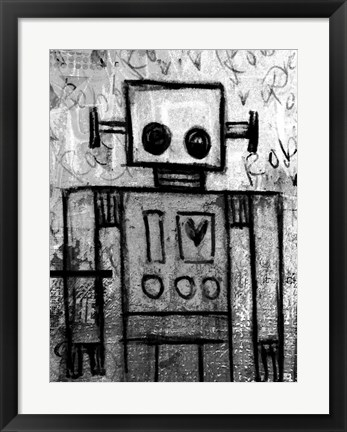 Framed Boy Robot Print