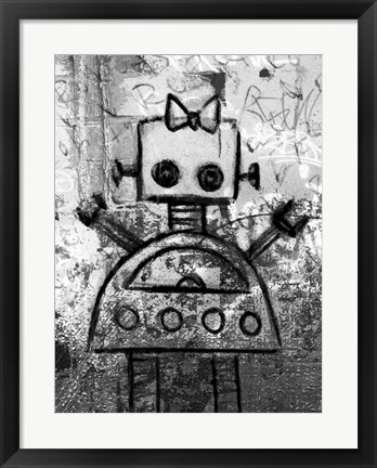 Framed Girl Robot Print