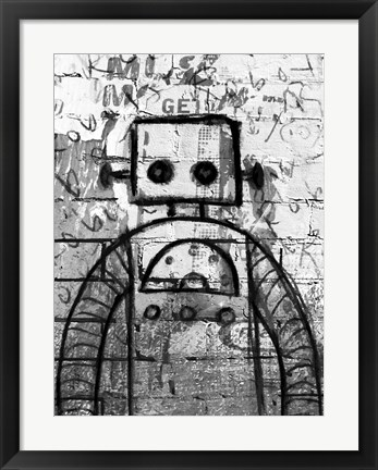 Framed Graffiti Robot Print