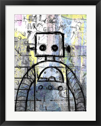 Framed Graffiti Robot Color Print