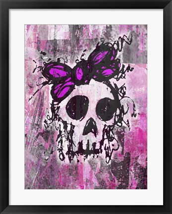 Framed Sketched Skull Princess Print