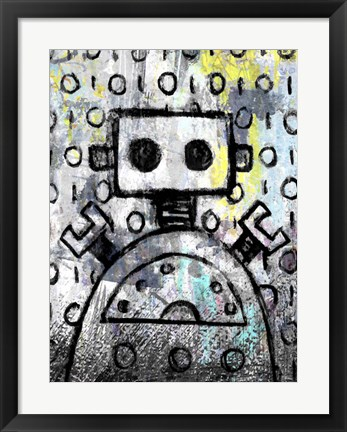 Framed Urban Robot Color Print