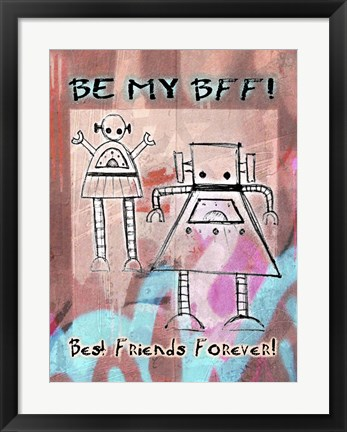 Framed Best Friends Forever Print