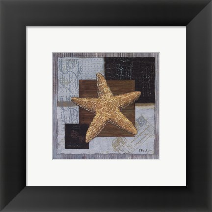 Framed Westport Beaded Starfish Print