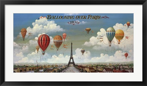 Framed Ballooning Over Paris Print