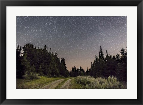 Framed Meteor and Big Dipper, Mount Kobau, Canada Print