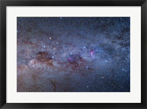 Framed Milky Way through Carina and Crux Print