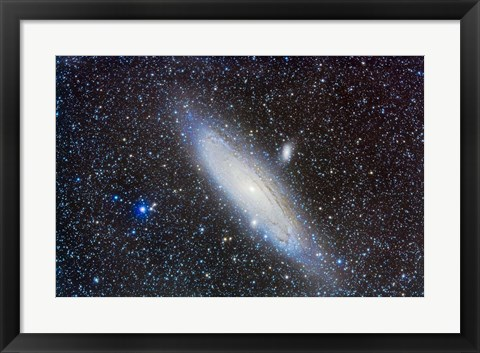 Framed Andromeda Galaxy with Companions Print