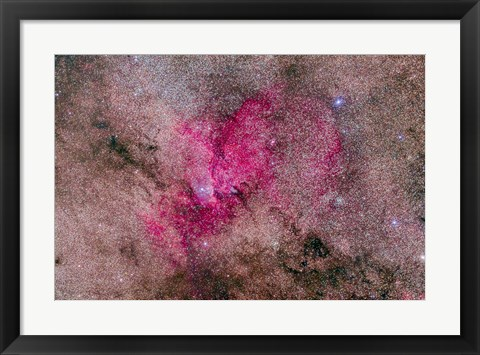 Framed NGC 6193 Nebulosity in Ara with several open Clusters Print