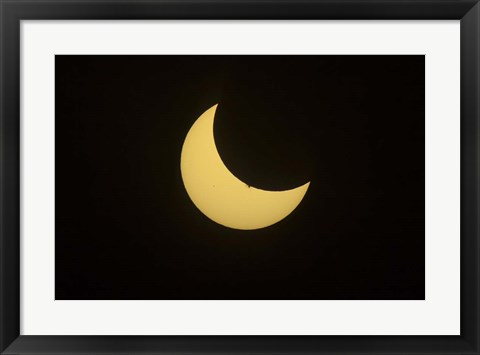 Framed Partial Eclipse of the Sun as seen from Jasper, Alberta, Canada Print