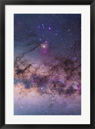 Framed Scorpius with parts of Lupus and Ara regions of the southern Milky Way Print