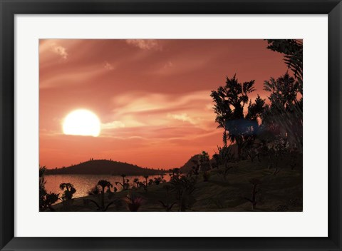 Framed View from the surface of Earth-like exoplanet Gliese 581c Print