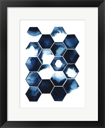 Framed Stormy Geometry I Print