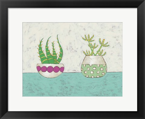 Framed Succulent Duo I Print
