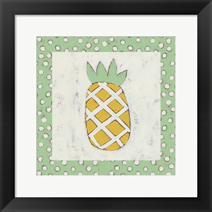 Framed Pineapple Vacation II Print