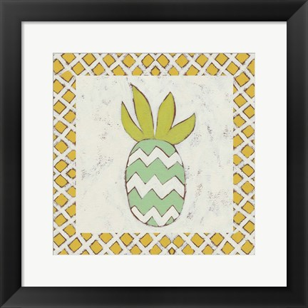 Framed Pineapple Vacation III Print