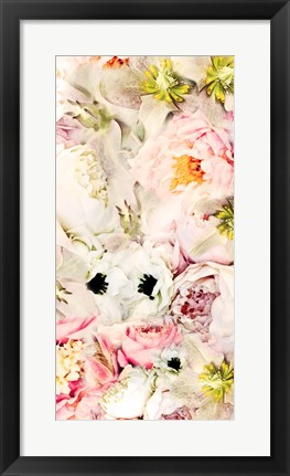 Framed Bouquet Fluffy I Print