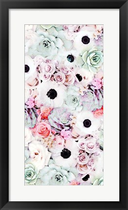 Framed Cloud Flowers I Print