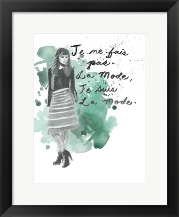 Framed Fashion Quotes I Print