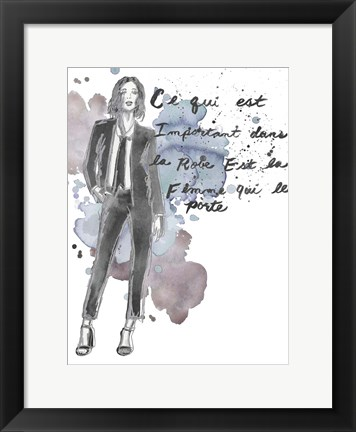 Framed Fashion Quotes III Print