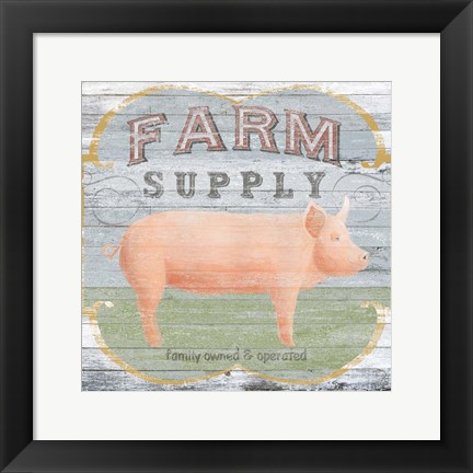 Framed Farm Supply II Print