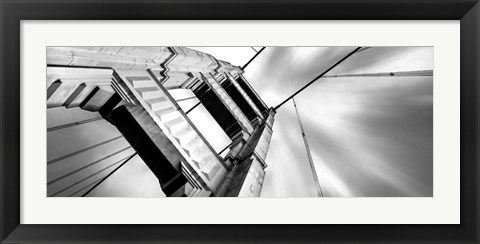 Framed Low angle view of details of Golden Gate Bridge, San Francisco, California Print