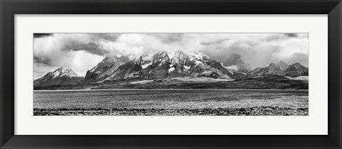 Framed View of the Sarmiento Lake in Torres del Paine National Park, Patagonia, Chile Print