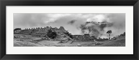 Framed Inca City of Machu Picchu, Urubamba Province, Cusco, Peru Print