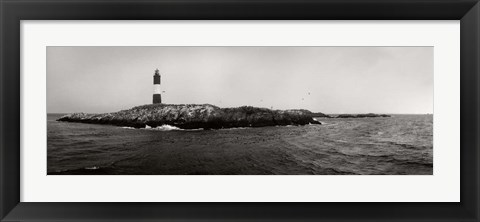 Framed Les Eclaireurs Lighthouse, Patagonia, Argentina Print
