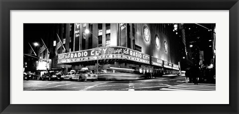 Framed Manhattan, Radio City Music Hall, NYC, NY Print