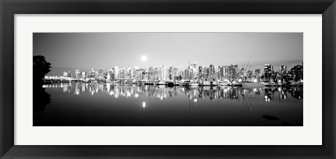 Framed Vancouver Skyline, British Columbia, Canada Print