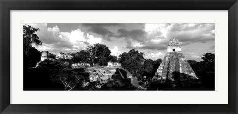 Framed Ruins Of An Old Temple, Tikal, Guatemala Print