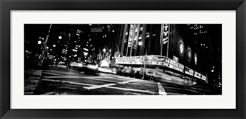 Framed Radio City Music Hall, Rockefeller Center, Manhattan, NY Print