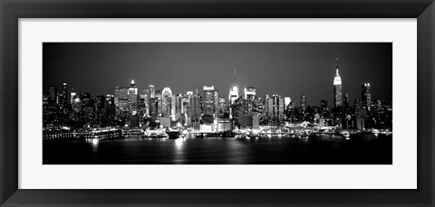 Framed Buildings at the waterfront, Manhattan, NY Print