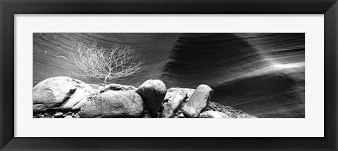 Framed Rock formations, Antelope Canyon, Lake Powell Navajo Tribal Park, Arizona Print
