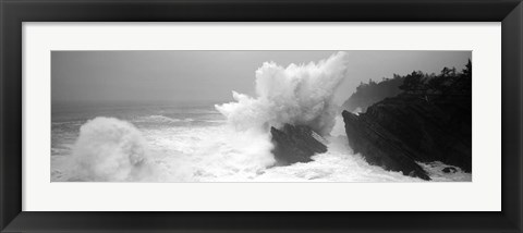 Framed Waves breaking on the coast, Shore Acres State Park, Oregon Print