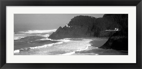 Framed Lighthouse on a hill, Heceta Head Lighthouse, Heceta Head, Lane County, Oregon Print