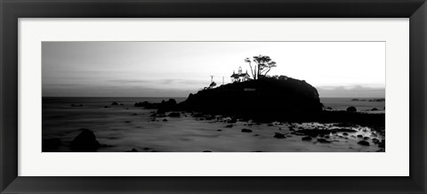 Framed Battery Point Lighthouse circa 1856, Crescent City, California Print