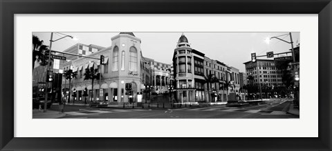 Framed Traffic on the road, Rodeo Drive, Beverly Hills, Los Angeles County, California Print