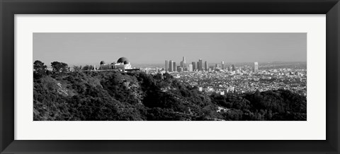 Framed Griffith Park Observatory, Los Angeles, California Print