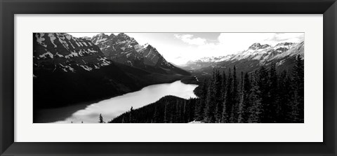Framed Mountain range at the lakeside, Banff National Park, Alberta, Canada Print