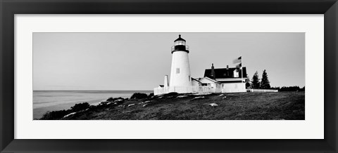 Framed Pemaquid Point Lighthouse, Bristol, Lincoln County, Maine Print