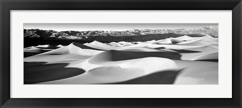 Framed Sand dunes in a desert, Death Valley National Park, California Print